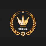 Beer bottle concept logo background Royalty Free Stock Images