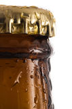 Beer bottle detail Royalty Free Stock Image