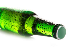 Beer bottle with drops Royalty Free Stock Photo