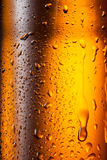 Beer bottle with drops. Abstract background Stock Photo