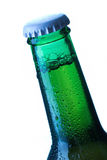 Beer bottle drops detail Royalty Free Stock Photo