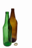 Beer bottle empty Royalty Free Stock Photos