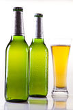 Beer bottle and glass Royalty Free Stock Photos