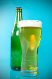 Beer bottle and glass Royalty Free Stock Photo