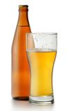 Beer bottle and glass Royalty Free Stock Images