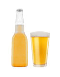 Beer Bottle and Glass Stock Images