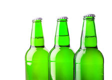 Beer bottle green Stock Image