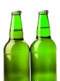 Beer bottle green Stock Images