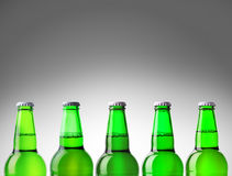 Beer bottle green Stock Photos