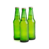 beer bottle green isolated on white background. Stock Photo