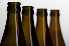 Beer bottle on grey macro Stock Image