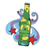 Beer bottle illustration Royalty Free Stock Images