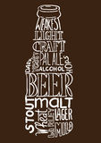 Beer bottle image Royalty Free Stock Photos