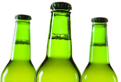 Beer bottle isolated on white Royalty Free Stock Photography