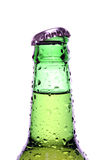 Beer bottle isolated on white Stock Photos