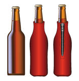 Beer Bottle With Koozie Stock Images