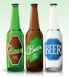 Beer bottle with label Royalty Free Stock Photography