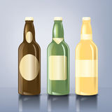 Beer_bottle_labels Photo libre de droits