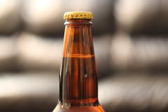 Beer bottle neck Stock Image