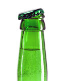 Beer bottle neck with open cap Royalty Free Stock Images