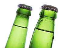 Beer bottle necks Royalty Free Stock Photography