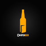 Beer bottle open concept background Royalty Free Stock Photography