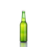 Beer bottle  over white background Royalty Free Stock Image