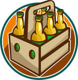 Beer Bottle 6 Pack Retro Stock Image