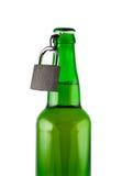 Beer, Bottle, Padlock Isolated. Royalty Free Stock Photo