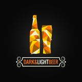 Beer bottle poly design background Stock Image