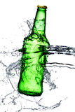 Beer bottle splash Royalty Free Stock Images