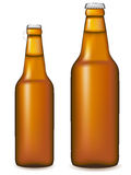 Beer bottle vector illustration. Isolated on white background Stock Photos