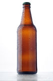 Beer Bottle with water drops Royalty Free Stock Images
