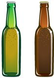 Beer bottles. Illustration of two bottles of beer royalty free illustration