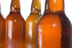 Beer bottles. Isolated on white Royalty Free Stock Photos