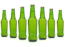 Beer bottles. Isolated on white background Stock Photos