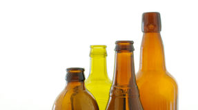 Beer bottles. Varios beer or wine bottle Stock Photography