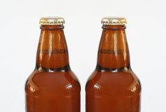 Beer bottles. Isolated on white royalty free stock image