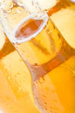 Beer bottles. With water droplets abstract close up Stock Images