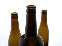 Beer Bottles. Glass beer bottles Royalty Free Stock Photos