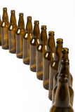 Beer Bottles in an Arc Stock Photos