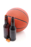 Beer Bottles with Basketball Royalty Free Stock Photo
