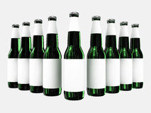 Beer bottles with blank labels Stock Photo