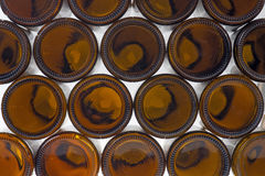 Beer bottles of brown glass background Stock Image