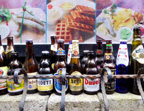 The beer bottles Royalty Free Stock Photos