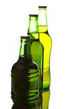 Beer bottles of different shapes Royalty Free Stock Photography