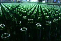 Beer bottles. Empty beer bottles taken from above Stock Images
