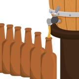Beer bottles filling up icon. Illustration Stock Image