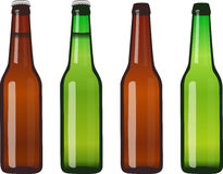 Beer Bottles - Full and Empty Royalty Free Stock Images