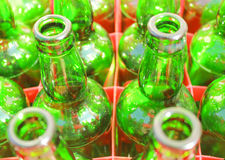 Beer bottles of green glass Royalty Free Stock Photography